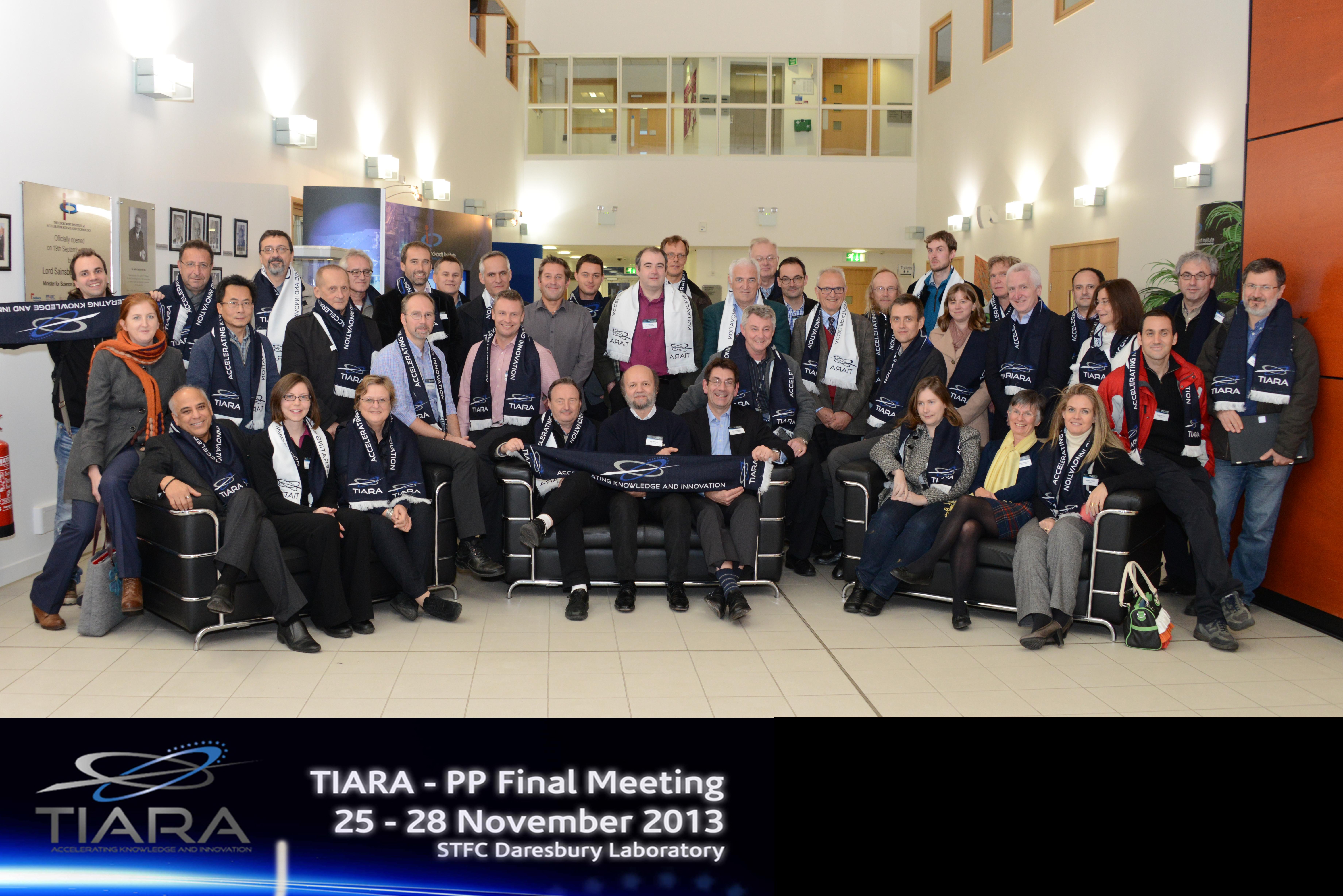 TIARA-PP final general meeting held at Daresbury lab, November 25-27